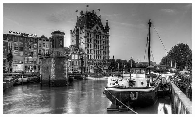 Oude Foto Van Rotterdam Foto Oude Haven Rotterdam