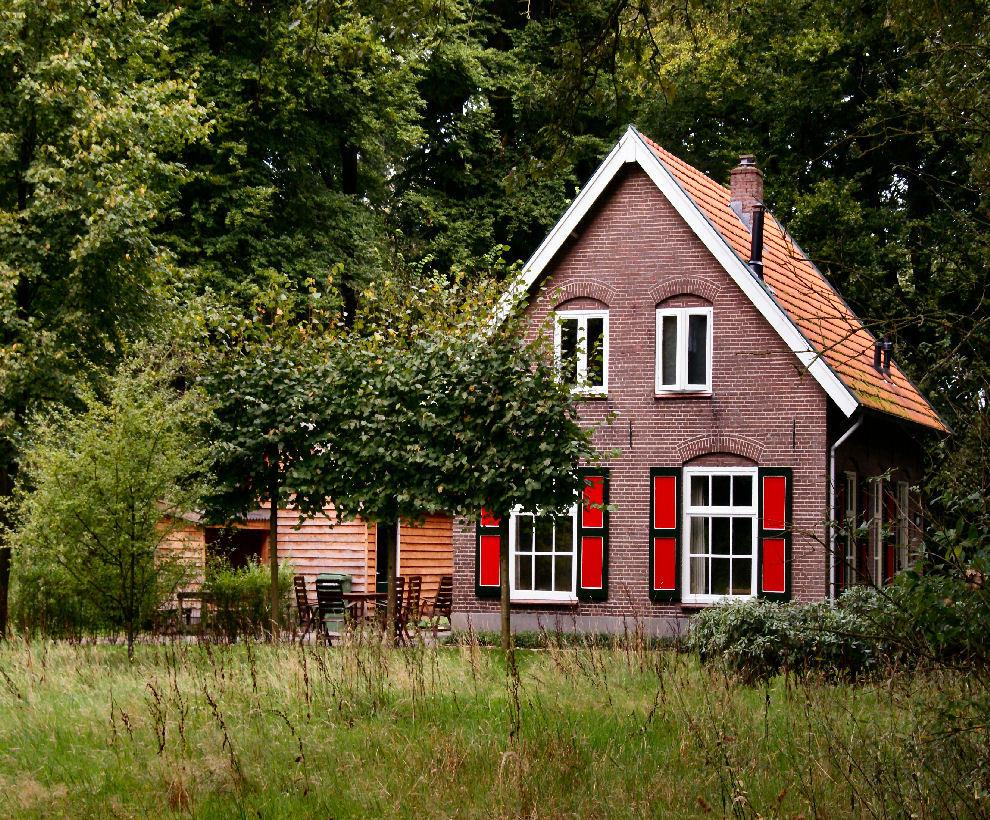 foto huisje midden in het bos van fotogroep