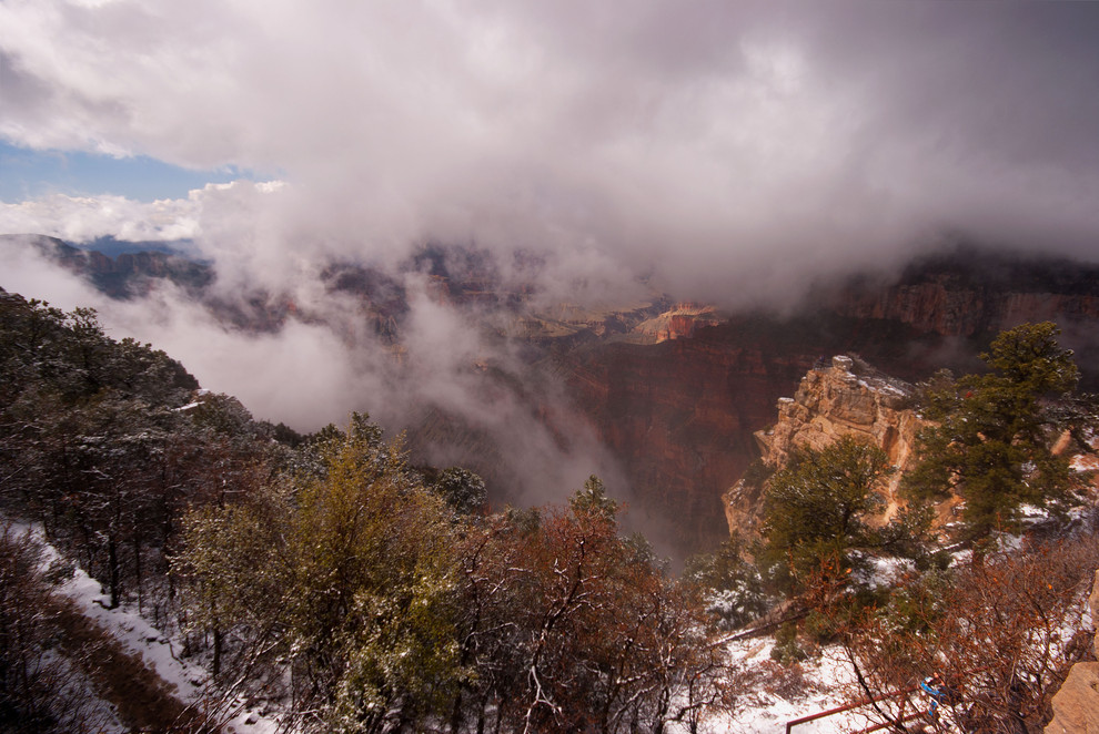 Foto North rim Grand Canyon door jippe