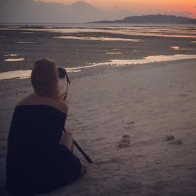 Foto Gili sunset door denis