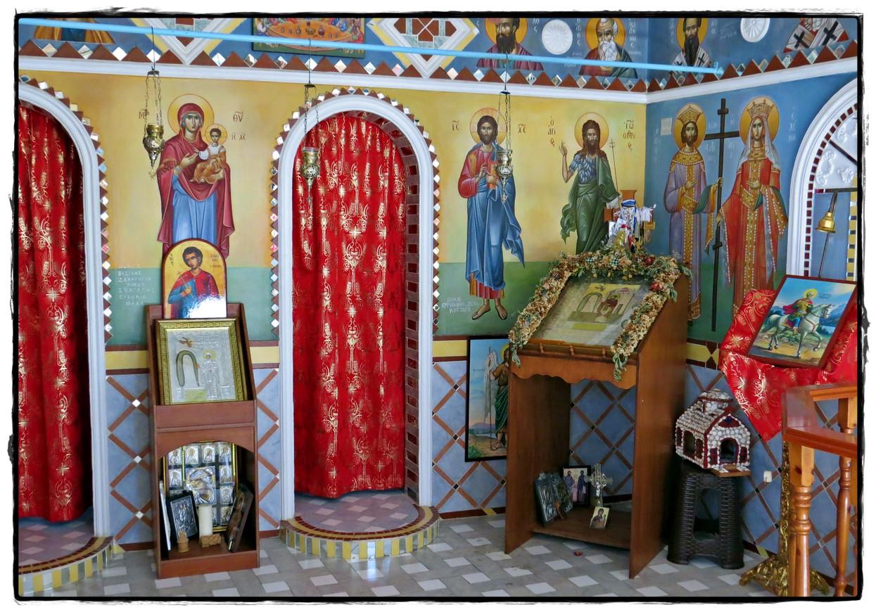 Foto Een kleurrijk interieur van stompy