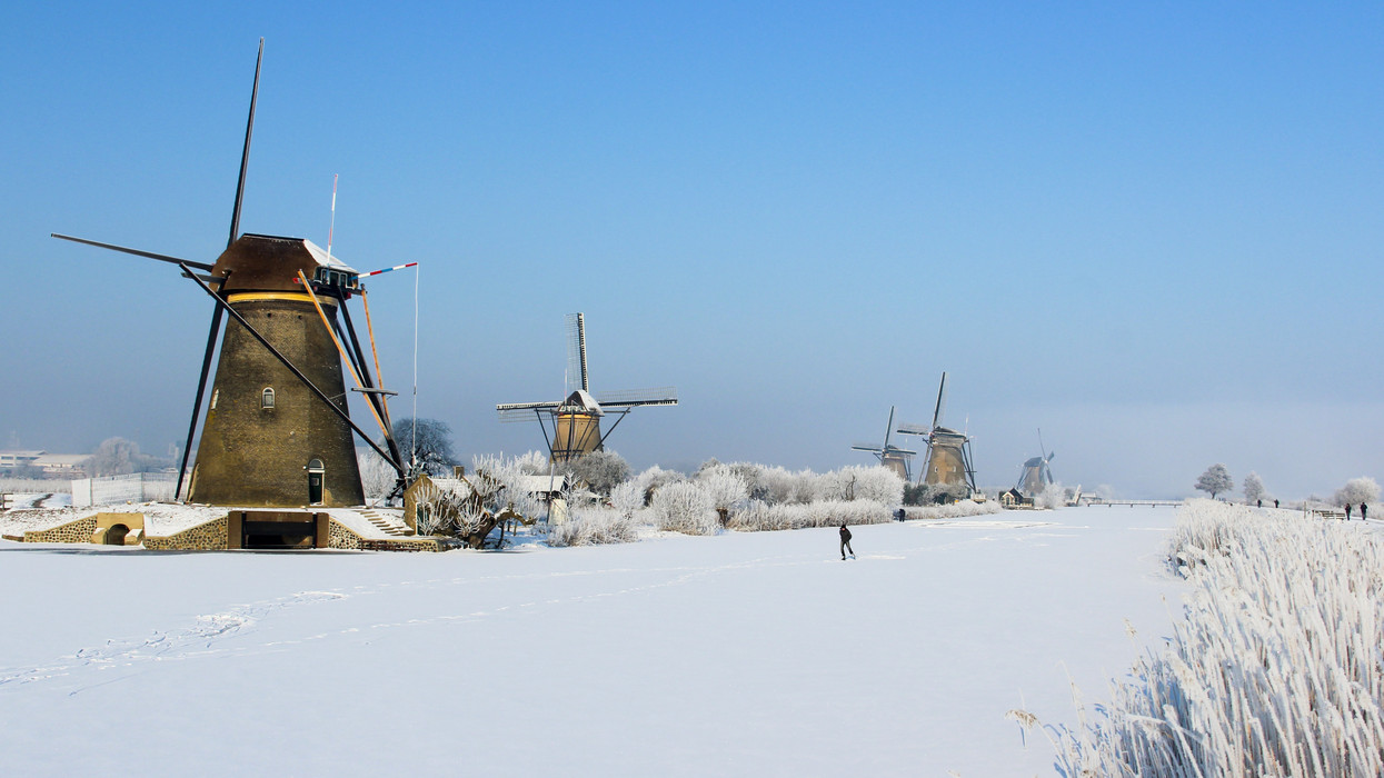 Foto Kinderdijk in de winter door Hhaas