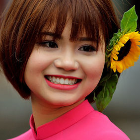 Foto Vietnamese beauty door Qpic