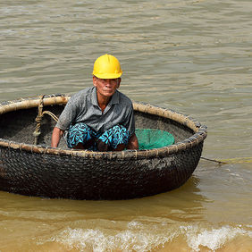 Foto Fisherman in Vietnam door Qpic