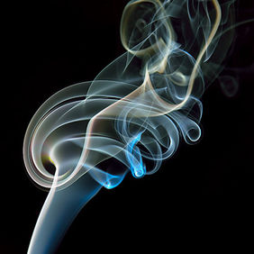 Foto Smoke art door Qpic