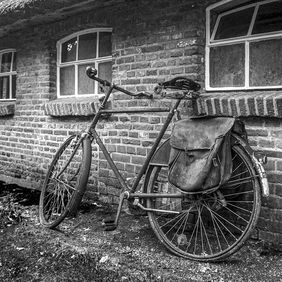 Foto old Bicycle door stam
