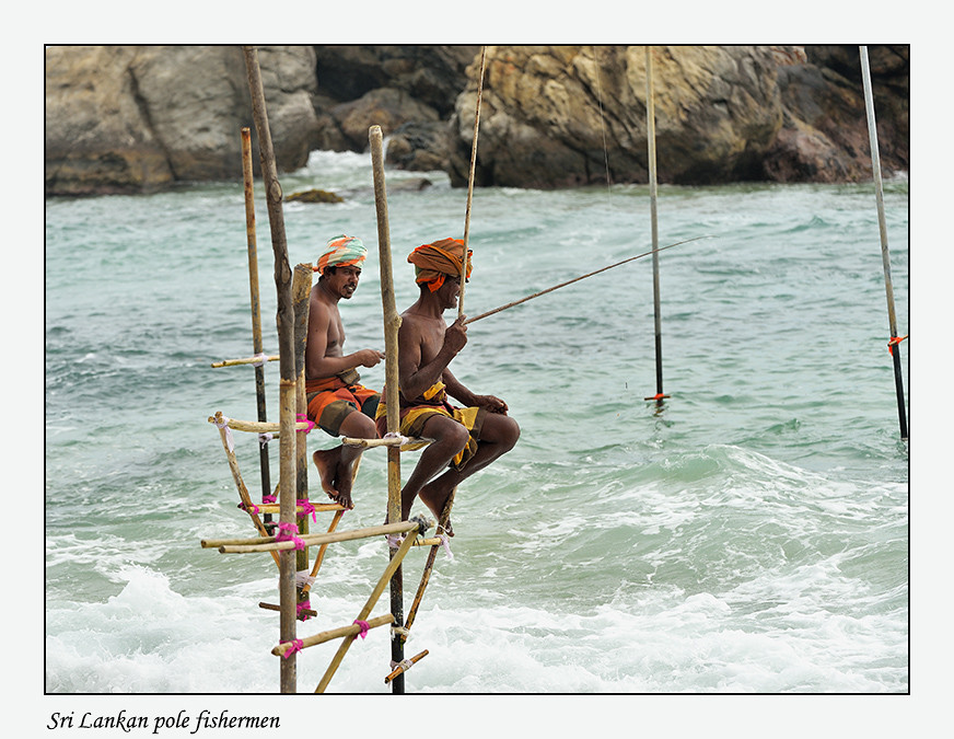 Foto Sri Lankan pole fishermen door Qpic