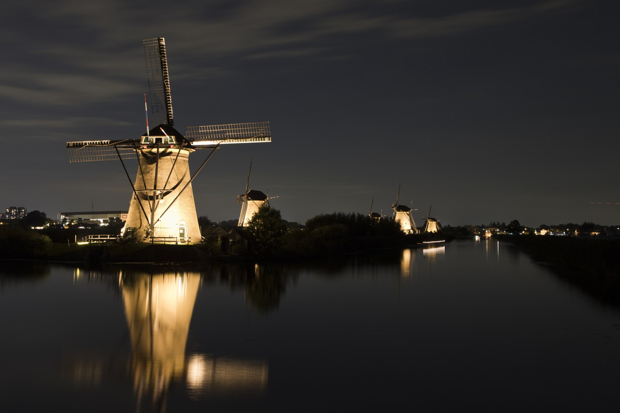 Foto Kinderdijk by Night door Hhaas